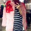 画像4: Real fox fur strawberry big hit color  jacket  fur coat  リアルフォックスファーストロベリー柄コート ジャケット (4)