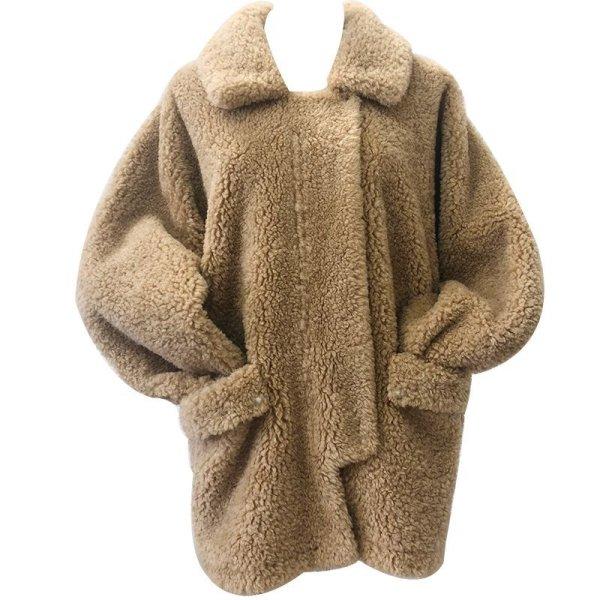 画像1: loose lamb sheep shearing fluffy fur coat  jacket シープスキンオーバーサイズコート ジャケット (1)