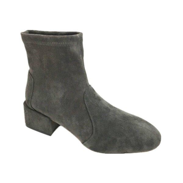 画像1: women's  leather  stretch boots short tube and ankle boots本革レザーアンクルストレッチショートブーツ ブーティ (1)