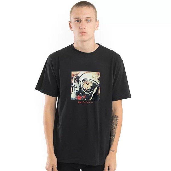 画像1:  men's  digital printing cotton short-sleeved T-shirt  man fu space宇宙柄半袖男女兼用Tシャツ (1)