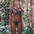 画像2: Bandage Bikini Set Push-Up Brazilian Print Swimwearブラジリアンプリントビキニ スウィムスーツ水着 (2)