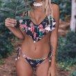 画像3: Bandage Bikini Set Push-Up Brazilian Print Swimwearブラジリアンプリントビキニ スウィムスーツ水着 (3)