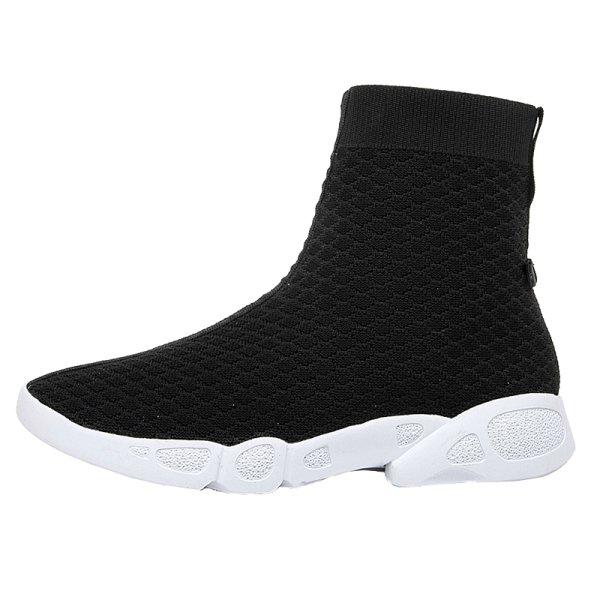 画像1:  women's elastic sports casual socks boots ソックスエラスティックブーツ ブーティー (1)