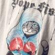 画像5: Men's Boxing Cat Print Short Sleeve T-Shirt ボクシングキャットプリント半袖Tシャツ (5)