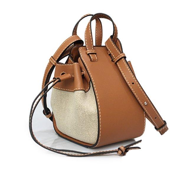 画像1: drawstring bucket hammock bag tote shoulder 2way bag巾着バケツハンモックショルダー斜め掛けクロスボディーバック (1)
