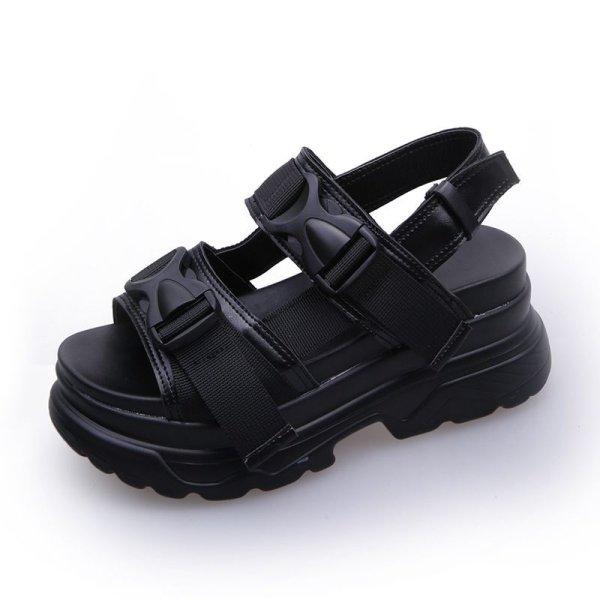 画像1: Women's Iconic Platform Sandalsアイコニック厚底サンダル スリッパ シューズ・靴 サンダルレディース 女性用 シューズ  (1)