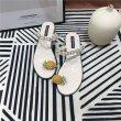 画像3: Women's pineapple toe pearl net  French sandals Flat Sandals パイナップルパールトゥ&パール付きサンダル (3)