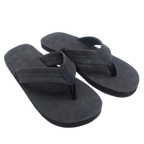 画像1: men's flip-flops non-slip sandals  スエードビーチスリッパ ビーチサンダル  (1)