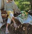 画像5: women's  transparent fashion flower flat  sandals and slippers フラワー付きフラットクリアサンダル スリッパ サボ (5)