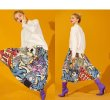画像4: Women's comic cartoon Sesame Street printed pleated skirt セサミストリート膝丈プリーツスカート (4)