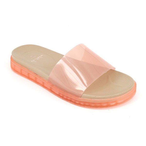 画像1:  Women's  Transparent Sandals slippers jelly shoes ウィメンズ ゼリーサンダルフラット スリッパ サボ (1)