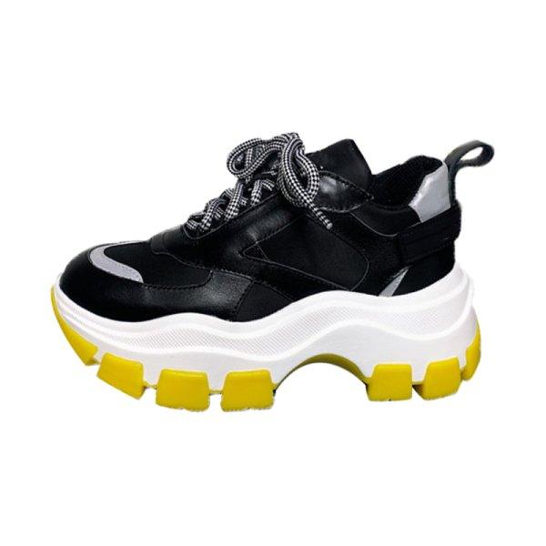 画像1:  women's  new wisdom smoked shoes platform sports shoes slip-on sneakers shoes   プラットフォーム 厚底スニーカー レースアップスニーカー スリッポン (1)