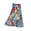 画像6: Women's comic cartoon Sesame Street printed pleated skirt セサミストリート膝丈プリーツスカート (6)