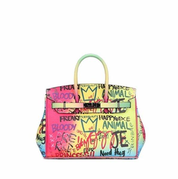 画像1:  woman's graffiti platinum bag Messenger toto bag  handbag  グラフィックトートメッセンジャーバッグ ショルダーバック (1)
