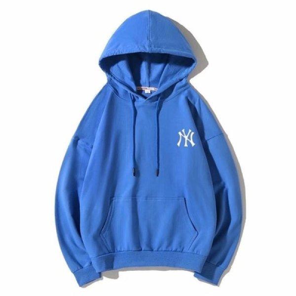 画像1: men's NY sweater men's tide hooded loose Swettユニセッ クス男女兼用 NYプリントプルオーバー スウェットトレーナー (1)