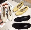 画像8: women's square head shallow mouth a pedal fur heels shoes モコモコファー太目ヒールパンプス (8)