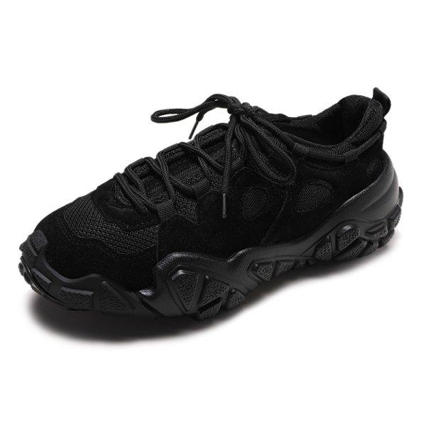 画像1:  women's lace upslip-on  solid color meshs neakers running shoes スニーカー スリッポン ローファーシューズ   (1)