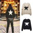 画像5: men's Oversize star print hoodie sweatshirts men and women ユニセックス男女兼用バックスタープリントフーディーパーカースウェットシャツ (5)