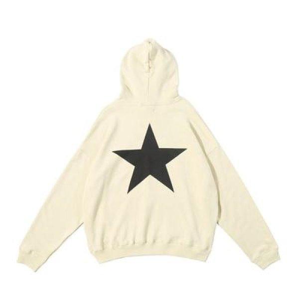 画像1: men's Oversize star print hoodie sweatshirts men and women ユニセックス男女兼用バックスタープリントフーディーパーカースウェットシャツ (1)