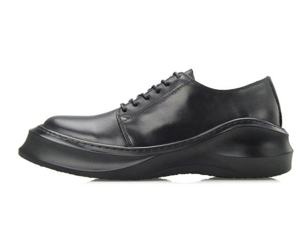 画像1: Men's  soft thick bottom platform shoesshoes プラットフォームラウンドヘッドレースアップシューズ スリッポン スニーカー (1)