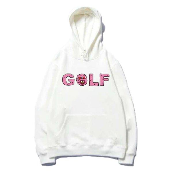 画像1: men's  Golf WANG Flower cherry Bomb sweater hooded pullover  ゴルフロゴフーディーパーカープルオーバトレーナー 男女兼用 (1)