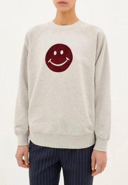 画像1: men's casual long sleeve smiley print shirt sweater  sweatshirt ユニセッ クス男女兼用スマイリープリントスウェットトレーナー プルオーバ シャツ (1)