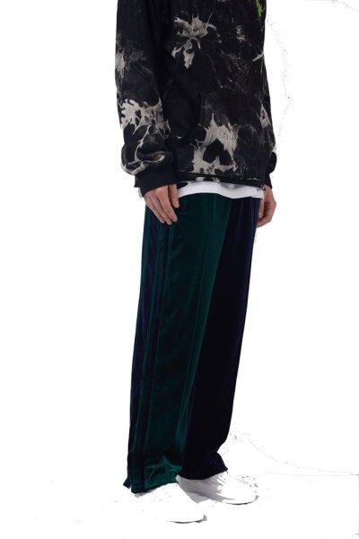 画像1: men's velvet stitching  loose hipster men's straight casual trousers pans ベルベットベッチンカラーパンツカジュアルパンツ  (1)