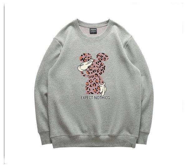 画像1: Unisex Men's Leopard print Mickey pullover sweatshirt  ユニセックス 男女兼用  レオパードミッキースウェット トレーナー  (1)