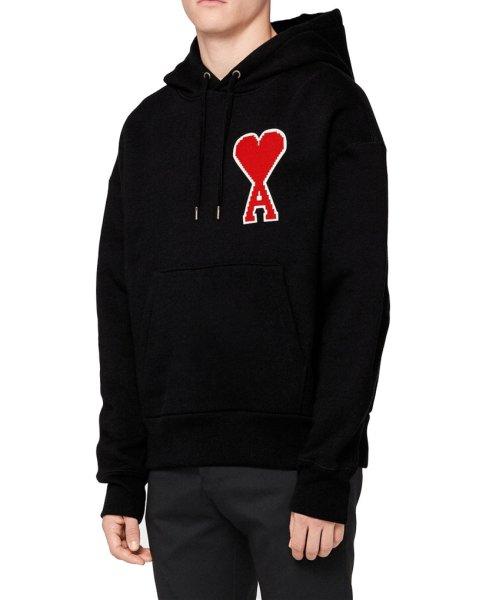 画像1: Unisex Men's simple plus fleece shirt embroidery big love classic hooded sweater  Parker ユニセックス 男女兼用  ハートエンブレム付きスウェットフーディーパーカー トレーナー  (1)