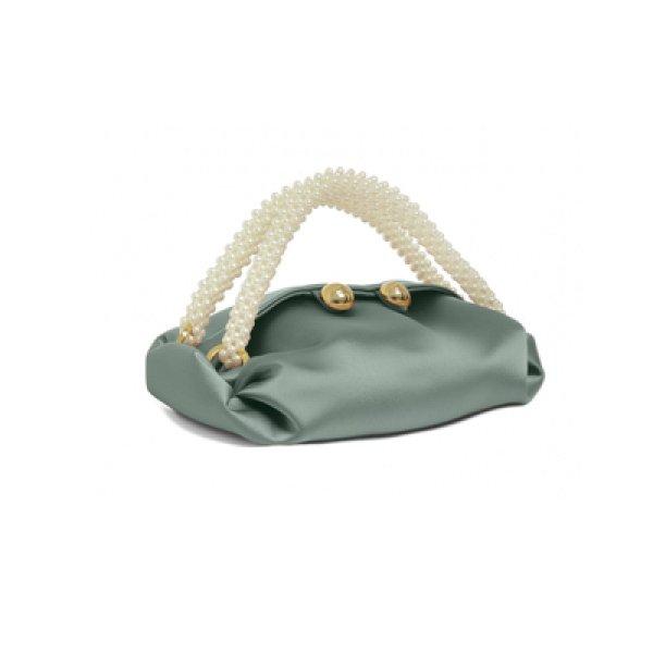 画像1: Woman's Silk Cloth Pearl Woven Dumpling Bags Handbag Shoulder Messenger Bag シルクパールハンドバッグ ショルダーメッセンジャーバッグ トートバック (1)