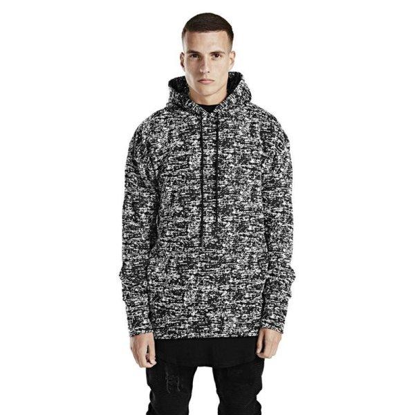 画像1: Unisex Men's side zipper trend snowflake casual loose pullover hoodie  Parker ユニセックス 男女兼用 サイドジッパースノーフレークルーズプルオーバーパーカーセーター  (1)