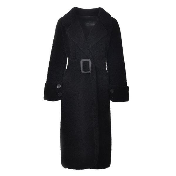 画像1: Women's sheep shearling Fur Coat リアルシープスキンシャーリングファーロングコート (1)