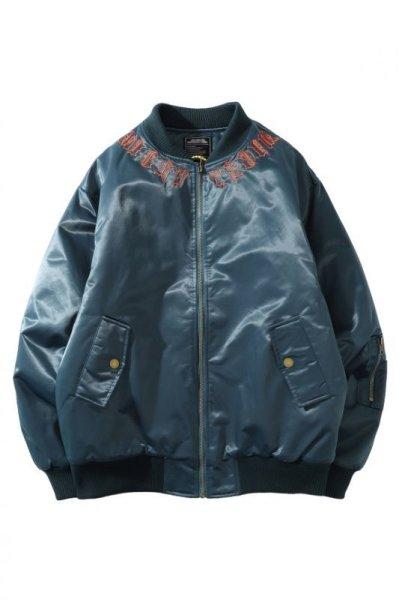 画像1: men's oversize  Baseball Jacket blouson ユニセッ クス男女兼用レター刺繍スカジャン スタジャン ジャケット (1)
