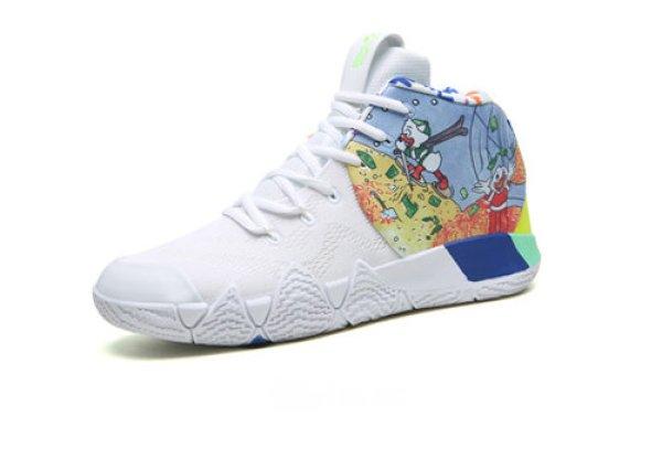 画像1: men's  graffiti High-top sneaker shoes  ハイカットドナルドプリントレースアップスニーカー (1)