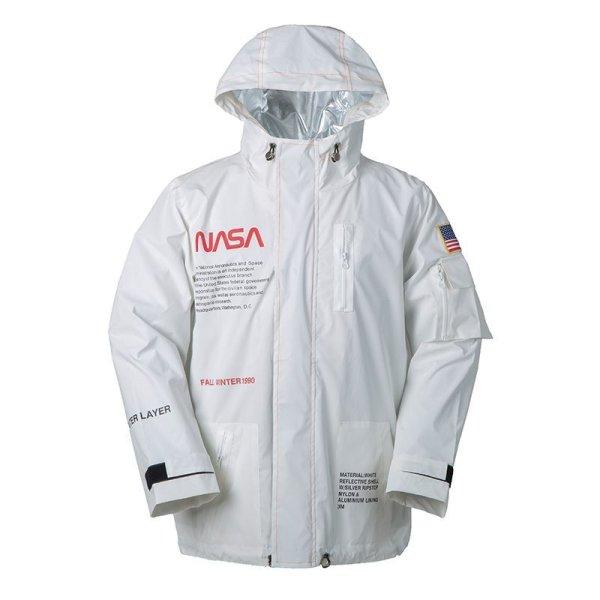 画像1: 即納 セール SALE men's NASA 3M reflective jacket super fire INS same astronaut flight jacketユニセッ クス男女兼用 NASA ナサフライトジャケット コート (1)