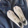 画像8:  women's Tabi split toe canvas high-top sneakers  タービtabiスプリットトゥキャンバスハイトップスニーカースニーカー (8)