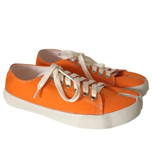 画像1:  women's Tabi split toe canvas Low cut sneakers  タービtabiスプリットトゥキャンバスローカットスニーカースニーカー (1)