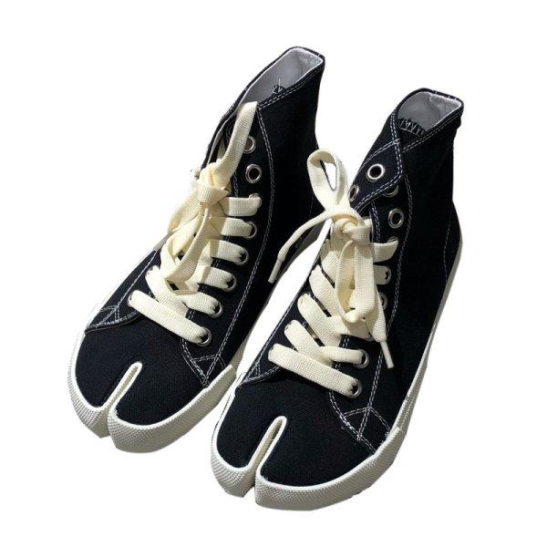 画像1:  women's Tabi split toe canvas high-top sneakers  タービtabiスプリットトゥキャンバスハイトップスニーカースニーカー (1)