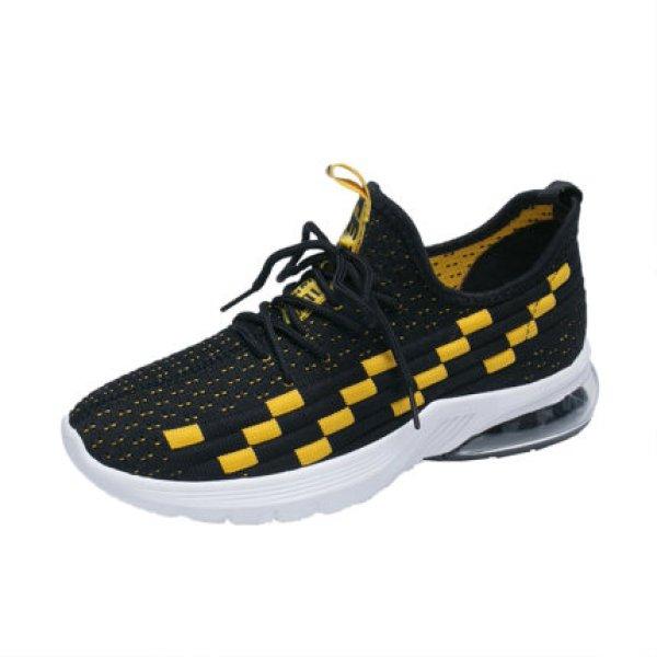 画像1:  women's flying woven mesh sneakers  Lace Up Sneakers  メッシュレースアップスニーカースニーカー  (1)