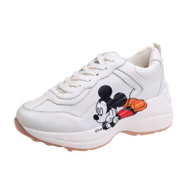 画像1:  women's Mickey Mouse Platform Lace Up Sneakers 厚底ミッキーマウス厚底プラットフォームレースアップスニーカースニーカー  (1)