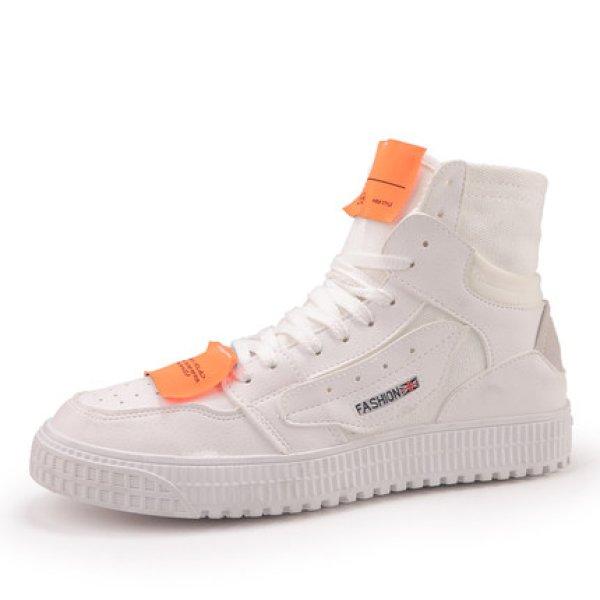 画像1: men's  high cut lace-up Sneakers shoes  ハイカットレースアップスニーカー (1)