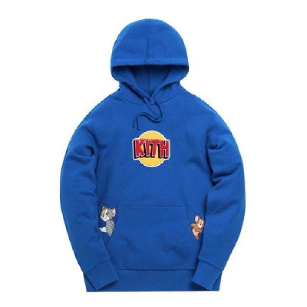 画像1:  men's TOM &JERRY hooded sweater shirt ユニセックス男女兼用トム&ジェリープリントフーディーパーカー トレーナー (1)