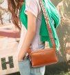 画像6: Woman's Cross body diagonal hanging shoulder small bag ショルダークロスボディースモールハンドバック 斜め掛け (6)
