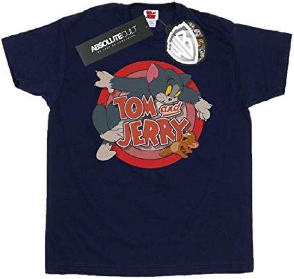 画像1: Tom and Jerry Men's Classic Catch T-Shirt トムアンドジェリーメンズクラシックキャッチTシャツユニセックス 男女兼用 (1)