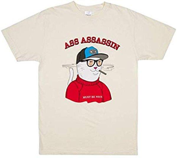 画像1:  RIPNDIP, Ass assasin tee, Vintage white リップンディップビンテージホワイTシャツユニセックス男女兼用  (1)