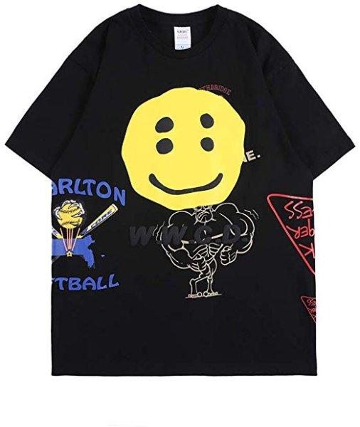 画像1: NAGRI Iron Workers Local T-Shirt NAGRIスマイル半袖Tシャツユニセックス男女兼用  (1)