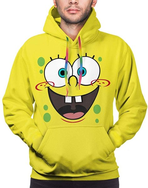 画像1: Candy Ran Spongebob Men's Hoodie Casual Sweatshirt Warm-up Pullover Hoodies メンズキャンディランスポンジボブフーディー パーカースウェットユニセックス男女兼用 (1)