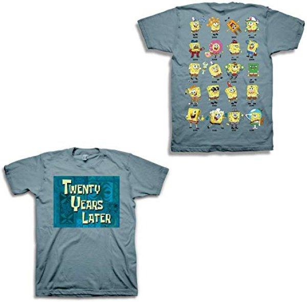 画像1: Mens Spongebob Squarepants Shirt - Spongebob Tee - Classic Swag T-Shirt スポンジボブ半袖Tシャツ 男女兼用ユニセックス (1)