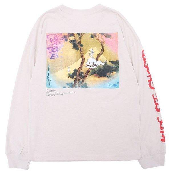 画像1: Ink painting ins long-sleeved t-shirt men and women  オーバーサイズインクペイント長袖TシャツラウンドネックTシャツユニセックス男女兼用 (1)