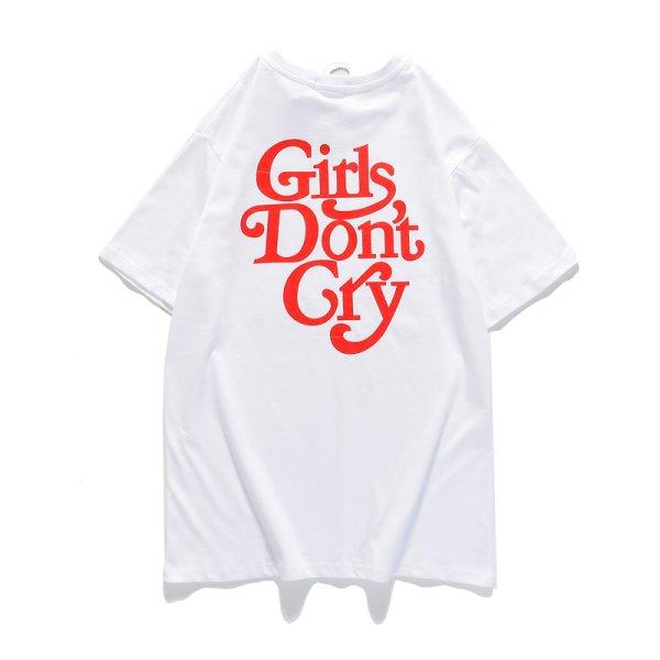 画像1: round neck girls don't cry  printing short-sleeved T-shirt girl don't cry ガールズドントクライ プリントTシャツユニセックス男女兼用 (1)